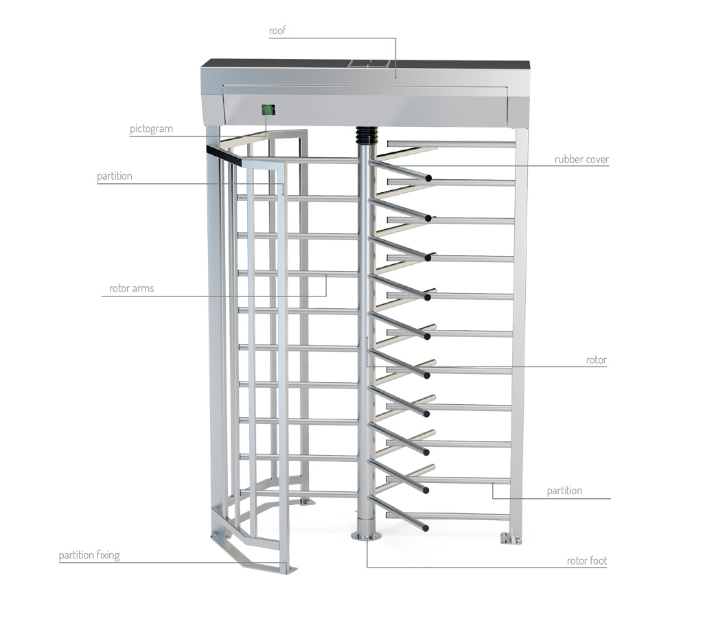 Full height turnstiles GA3